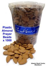 New 1000 x Loose islamic Plastic Almond prayer beads, khatam shareef, Tasbih..